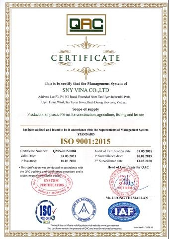 CERTIFICATE ISO 2020